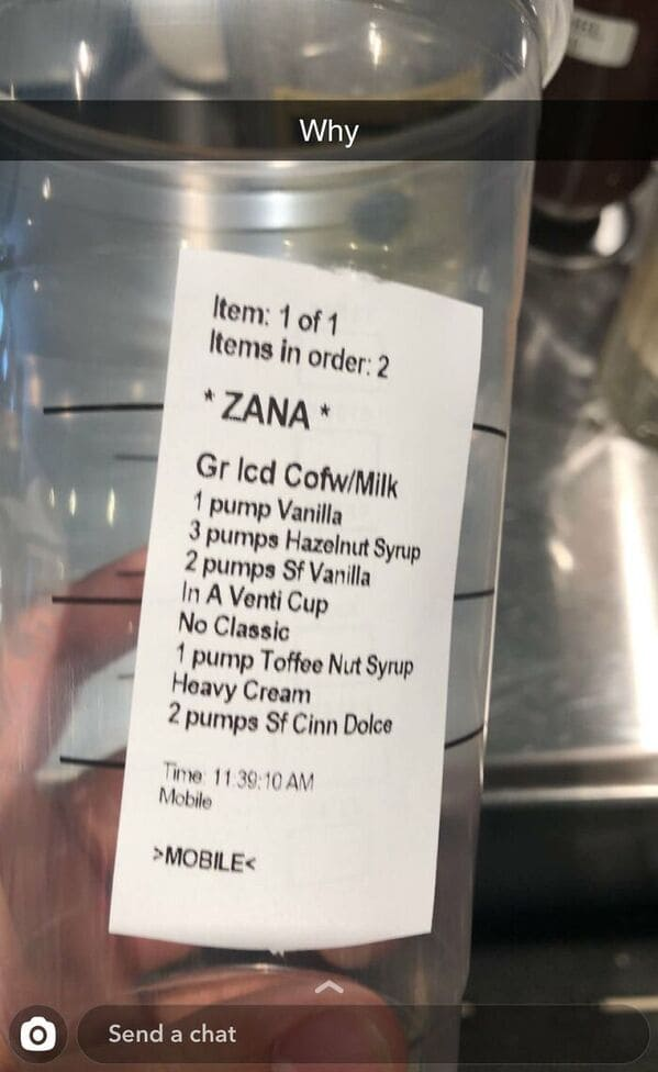 Weird barista orders, funny Starbucks specific orders, hilarious coffee fails, wtf Starbucks orders that customers actually ordered, twitter, tweets from coffee servers, lol