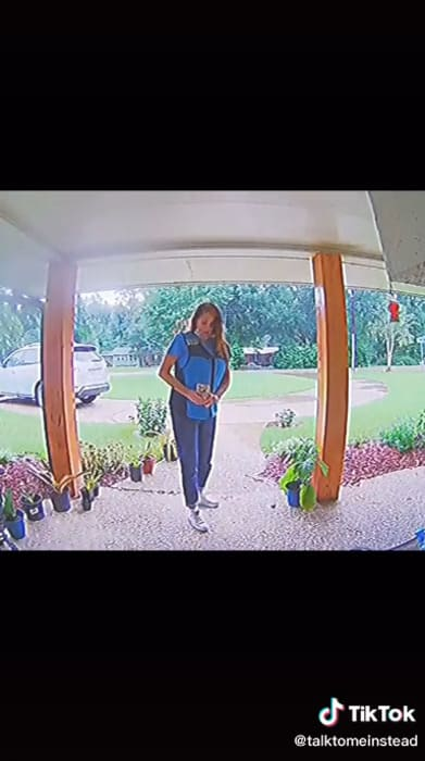 Amazon delivery driver takes package, Amazon theft, Amazon delivery driver steals package, TikTok Amazon, Amazon delivery security video