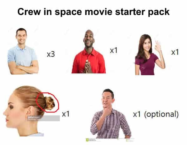 crew in space movie starter pack