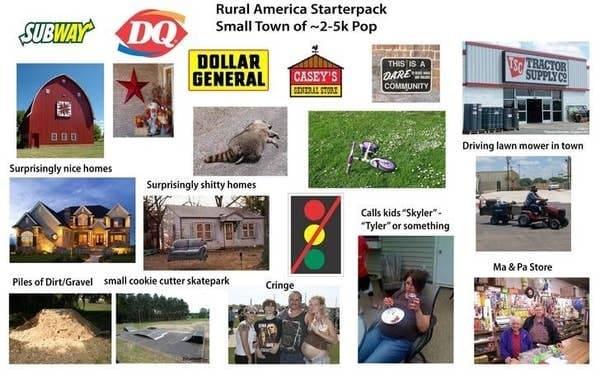 rural america starter pack