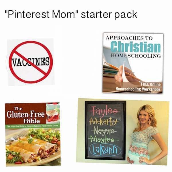 pinterest mom starter pack
