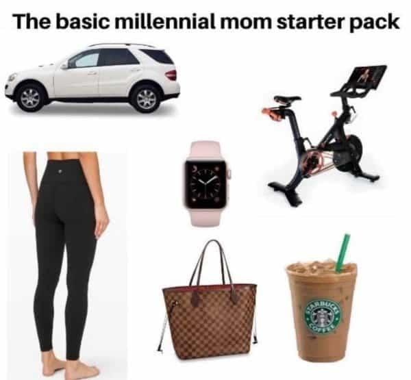 basic millennial mom starter pack