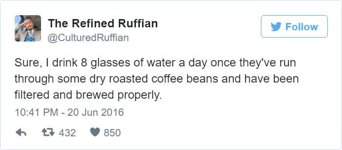 coffee has water in it tweet meme