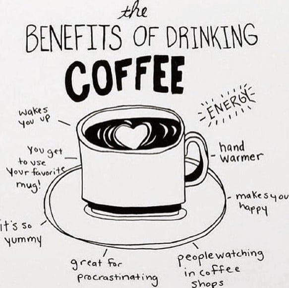 benefits of drinking coffee meme