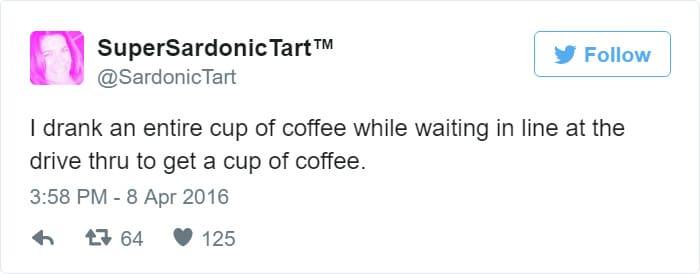 bored coffee tweet meme