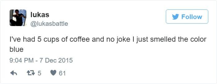 i smelled the color blue coffee meme