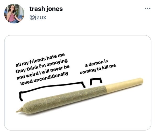 brackets on a joint meme, what its like to smoke joint meme, sections of a joint meme, joint sections memes, parts of a joint meme funny