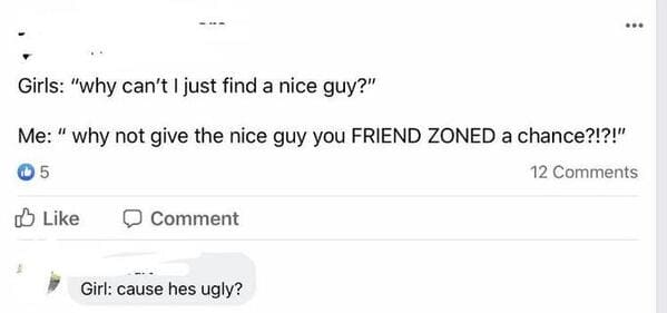 R Niceguys, nice guys reddit, men being rude to women, bad man texts, texting on dating apps, nice dudes being awful, women replying to rude jerks, friend zone, trashy
