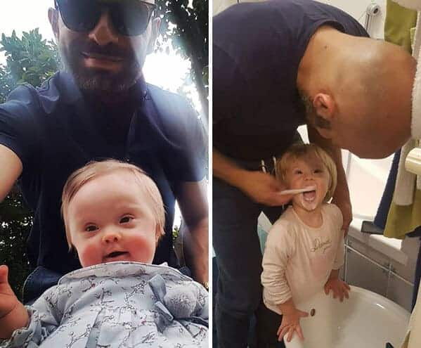 gay man adopts daughter with down syndrome, Uplifting wholesome images, nice pictures of animals and people, humanity restored, wholesome pics, reddit, r wholesome, funny cute animals, feeling good
