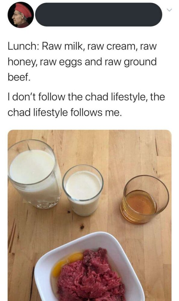 chad lifestyle struggle tweets