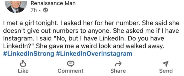 Linkedin cringey posts